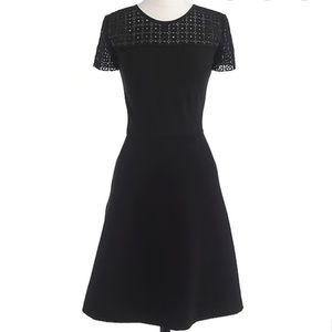 J. Crew Eyelet Fit and Flare dress